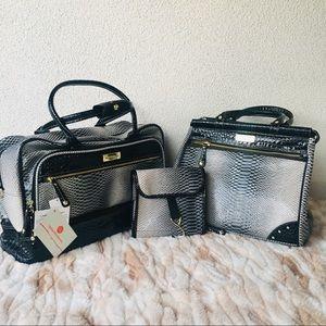 Samantha Brown Crocodile 3 Piece Luggage Bags